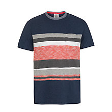 Buy Levi's Stripe Pocket Yarn Dye T-Shirt, Bostonian Blue Heather Online at johnlewis.com