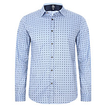 Buy Diesel Zuba Micro Geometric Print Shirt, Blue Online at johnlewis.com