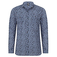 Buy Diesel Sulpher Flower Print Shirt, Blue Online at johnlewis.com