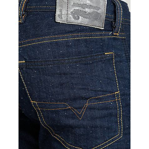 Buy Diesel Waykee Regular Tapered Jeans, Purple Indigo Wash Online at johnlewis.com
