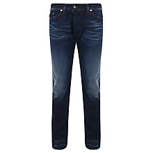 Buy Diesel Darron Straight Tapered Jeans, Dark Blue Wash Online at johnlewis.com