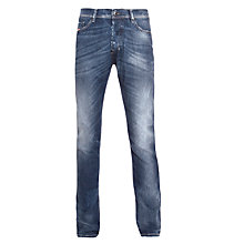 Buy Diesel Teppher Stretch Slim Tapered Jeans, Mid Dirty Wash Online at johnlewis.com