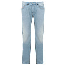 Buy Diesel Larkee Straight Leg Jeans, Light Wash Online at johnlewis.com