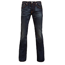 Buy Levi's 527 Low Boot Cut Jeans, Dark Blue Online at johnlewis.com