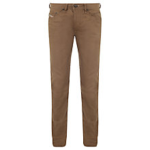 Buy Diesel Blether Regular Slim Jeans, Khaki Online at johnlewis.com