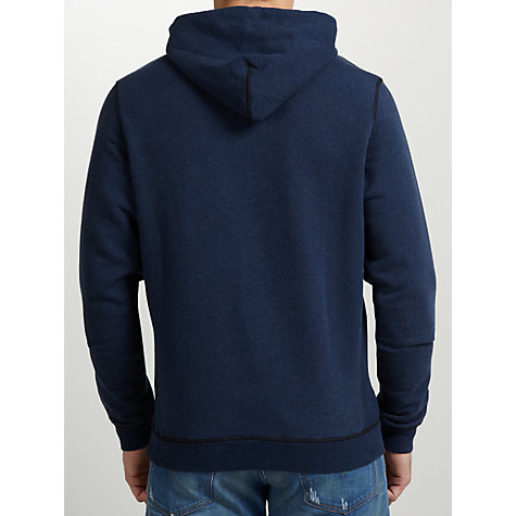 Buy Diesel Suzanne Mohawk Hooded Sweatshirt, Petrol Blue Online at johnlewis.com