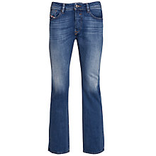 Buy Diesel Waykee Regular Fit Straight Leg Jeans, Mid Indigo Wash Online at johnlewis.com