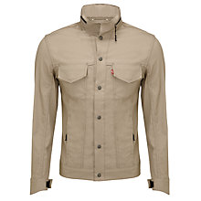 Buy Levi's Commuter Cycling Trucker Jacket, Timberwolf Non Denim Online at johnlewis.com