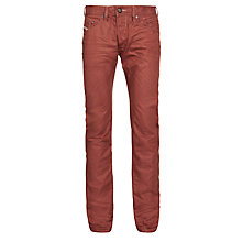 Buy Diesel Belther Regular Slim Tapered Jeans, Brick Red Online at johnlewis.com