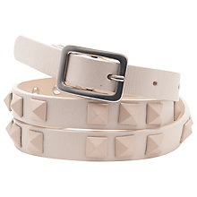 Buy French Connection Classic Katherine Belt, Cream Online at johnlewis.com