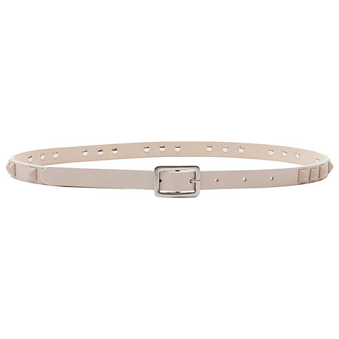 Buy French Connection Classic Katherine Leather Belt, Cream Online at johnlewis.com