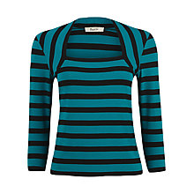 Buy Precis Petite Striped Faux Shrug Top, Green Online at johnlewis.com