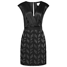 Buy Reiss Chevvy Beaded Skirt Dress, Black Online at johnlewis.com