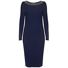 Buy Rise Embellished Neck Dress, Nacy Plum Online at johnlewis.com