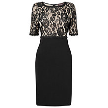 Buy Phase Eight Lily May Lace Pencil Dress, Black Online at johnlewis.com