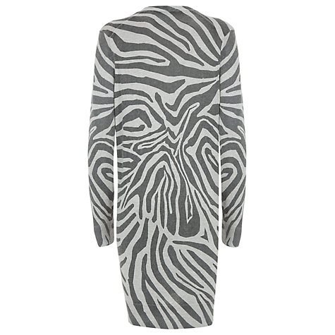 Buy Havren Zebra Print Cardigan, Light Grey Online at johnlewis.com