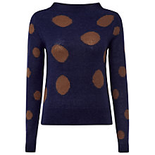 Buy White Stuff Hot Cocoa Jumper, Dark Blueberry Online at johnlewis.com