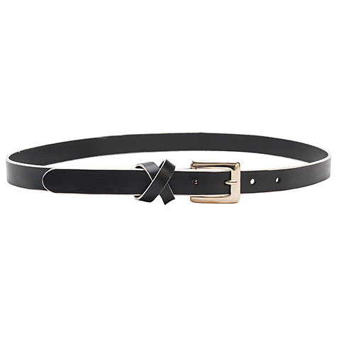 Buy French Connection Shelly Leather Belt, Black/White Online at johnlewis.com
