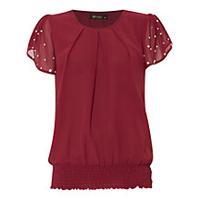 Buy Rise Melissa Jewelled SIeeve Blouse, Berry Online at johnlewis.com