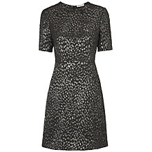 Buy Whistes Animal Jacquard Dress, Black Online at johnlewis.com