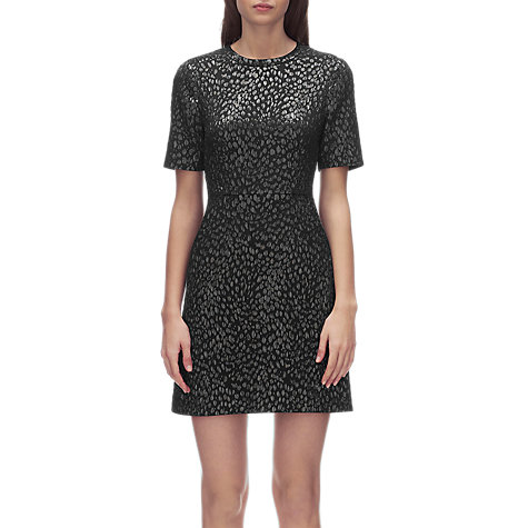 Buy Whistles Animal Jacquard Dress, Black Online at johnlewis.com