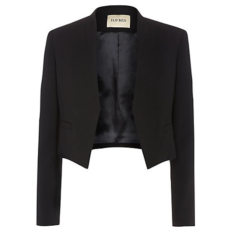 Buy Havren Cropped Tuxedo Jacket, Black Online at johnlewis.com