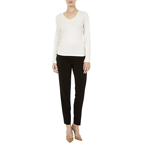 Buy Havren Dairy V-Neck Detail T-Shirt Online at johnlewis.com