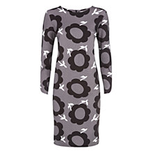 Buy Havren Flower Print Dress, Grey Combo Online at johnlewis.com