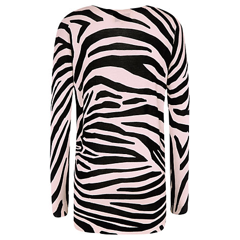 Buy Havren Zebra Print Jumper, Black/Oatmeal Online at johnlewis.com
