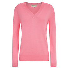 Buy Havren V Neck Jumper, Pink Sherbert Online at johnlewis.com