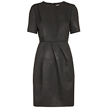 Buy Whistles Jacquard Snake Skin Dress, Black Online at johnlewis.com