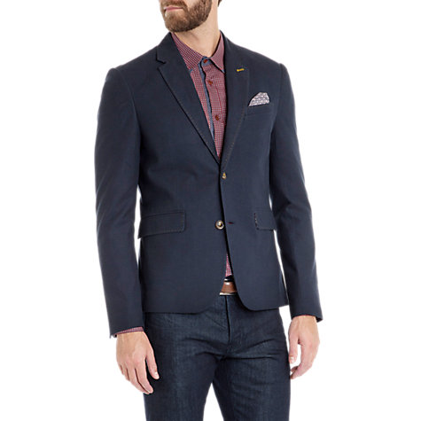 Buy Ted Baker Bixbe Textured Blazer, Navy Online at johnlewis.com