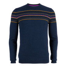 Buy Ted Baker Snodon Merino Fairisle Jumper, Blue Online at johnlewis.com