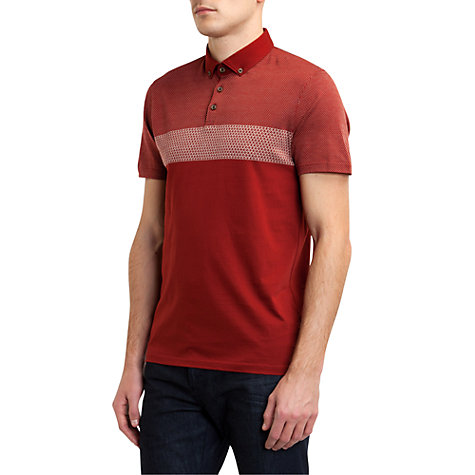 Buy Ted Baker Mondrin Jaquard Polo Top Online at johnlewis.com