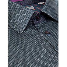 Buy Ted Baker Nuworld Geometric Print Shirt, Blue Online at johnlewis.com
