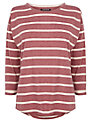 Warehouse Stripe Long Sleeve Boyfriend Top