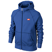 Buy Nike Boy's YA76 Exploded Futura Full Zip Hoodie, Blue Online at johnlewis.com