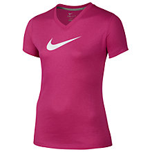 Buy Nike Girl's Legend Zap Short Sleeve V-Neck  T-Shirt Online at johnlewis.com