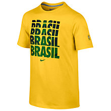 Buy Nike CBF Brasil Crew Neck T-Shirt Online at johnlewis.com