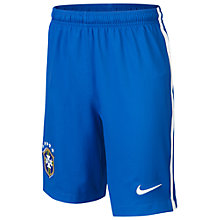 Buy Nike Junior Brasil CBF Stadium Replica Home Shorts 2013/2014, Blue Online at johnlewis.com
