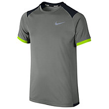 Buy Nike Boy's Miler Short Sleeve T-Shirt Online at johnlewis.com