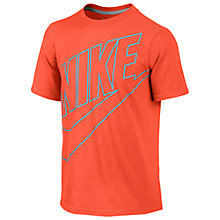 Buy Nike Boys' Futura T-Shirt, Red Online at johnlewis.com