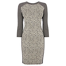 Buy Warehouse Animal Panel Jumper Dress, Neutral Print Online at johnlewis.com