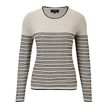 Buy Viyella Petite Spot Striped Jumper, Grey Online at johnlewis.com