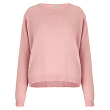 Buy Whistles Devon Angora Knitted Jumper, Pink Online at johnlewis.com