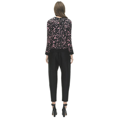 Buy Whistles Smudge Spot Silk Sweatshirt, Multi Online at johnlewis.com