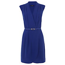 Buy Oasis Crepe Dress, Rich Blue Online at johnlewis.com