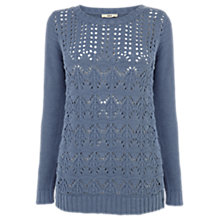Buy Oasis Cotton Marl Jumper, Light Blue Online at johnlewis.com