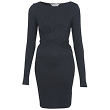 Buy Miss Selfridge Twist Front Dress, Dark Grey Online at johnlewis.com