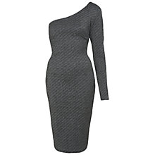 Buy Miss Selfridge One Shoulder Bodycon Dress, Gold Online at johnlewis.com